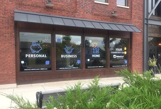Union Bank Window Clings