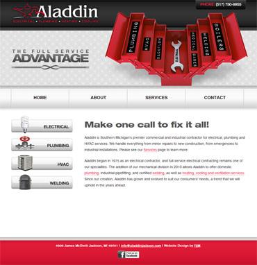 Aladdin's website